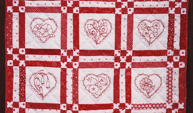Redwork Quilt Patterns Christmas : Redwork Alex Anderson Quilts